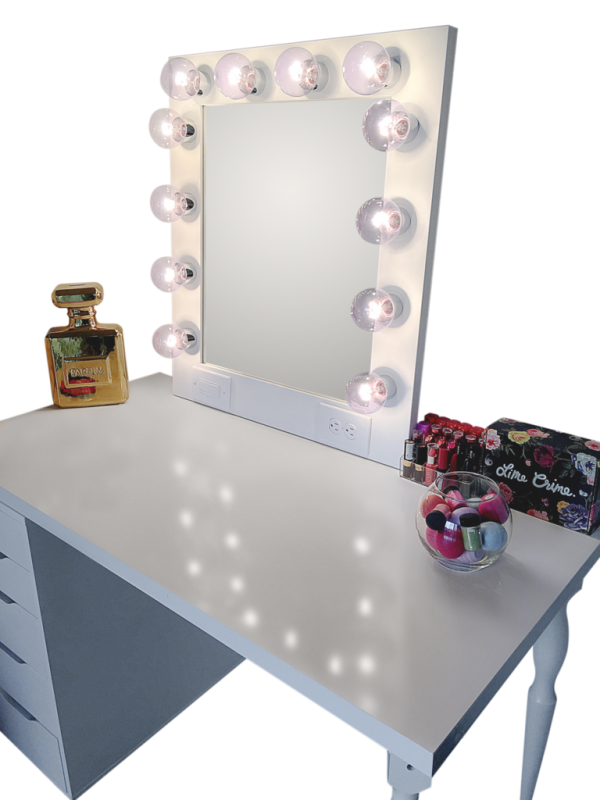 hollywood vanity mirror silver