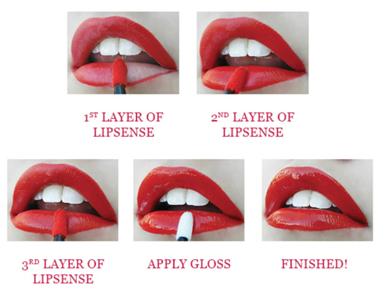 how to apply lipsense lipstick