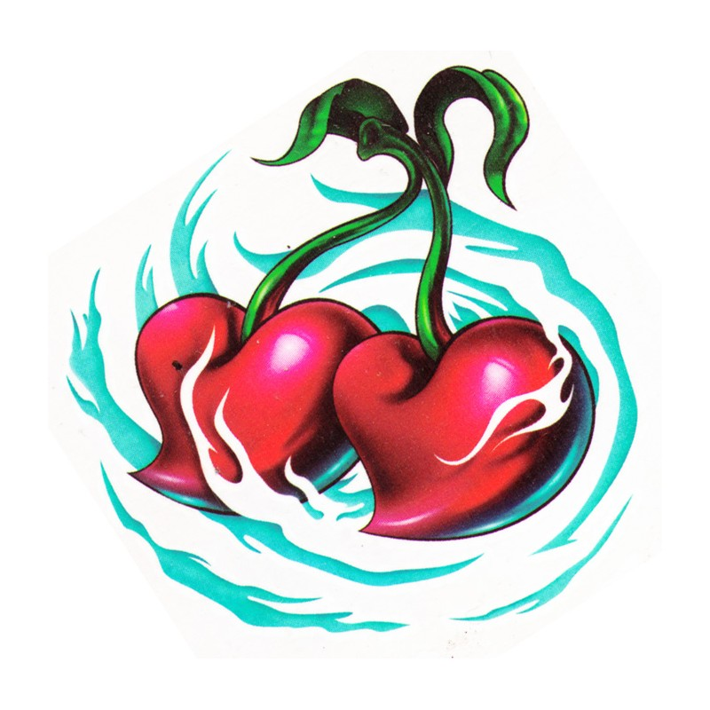 love cherries temporary tattoo design