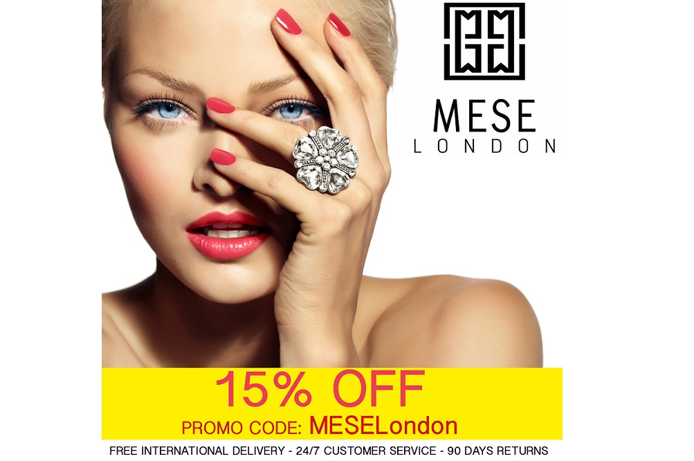 MESE London Offering 15% OFF their entire range of DESIGNER JEWELLERY