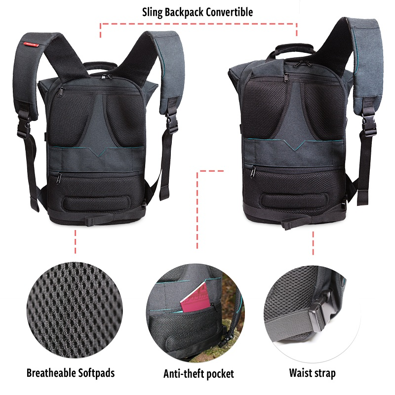 Vandra backpack Features