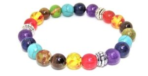 Chakra Bracelet Energy Stone Beads for Healing and Meditation