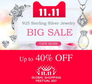 40% OFF Promotion on 925 Sterling Silver Jewelry