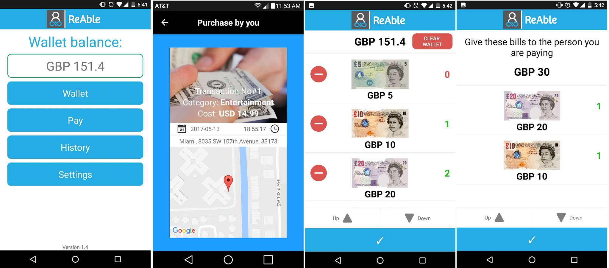 The ReAble Wallet App – Financial independence for intellectually disable people