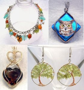Eye catching and stylish handmade, designer, wire wrapped jewelry