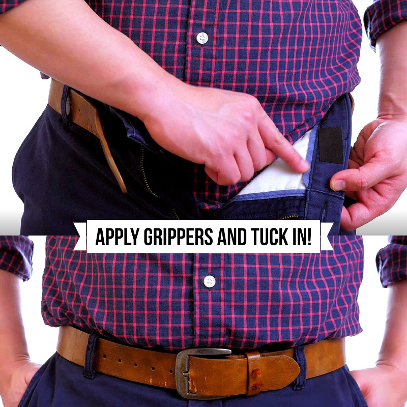 Keep Your Shirt Tucked in with Waist Grippers