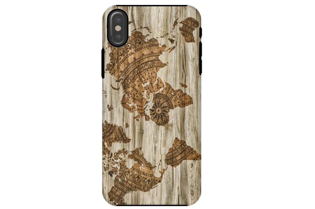 Secure, attractive and durable map themed mobile phone case