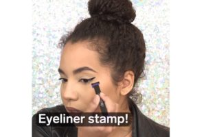A Perfect Cat Eye With Cat Eye Eyeliner Stamp!