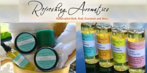 Handcrafted bath and body products by Refreshing Aromatics