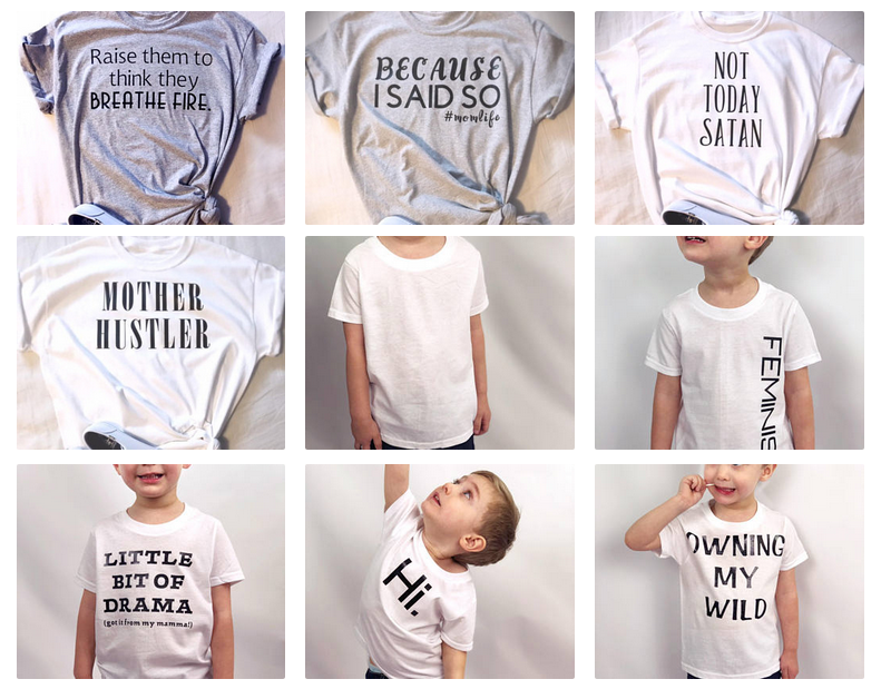 Comfortable and creative mom and kid tees!