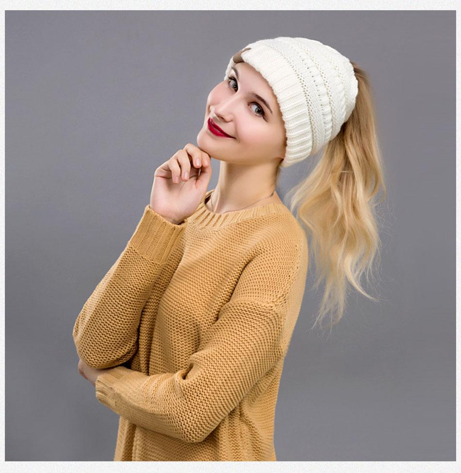 Stylish and Comfortable Ponytail Winter Beanie