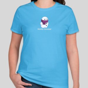 Add colors to your holidays with this Holiday Snowman T-Shirt