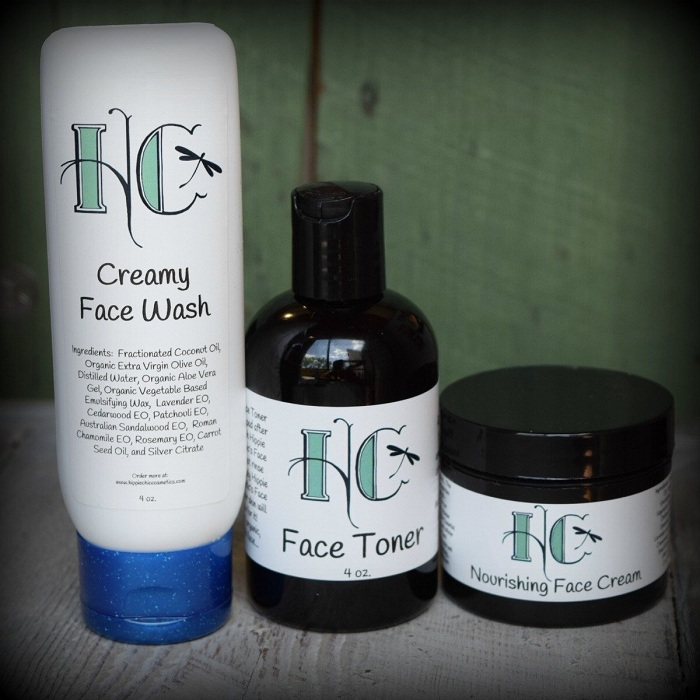 All natural skincare products by Hippie Chic Cosmetics