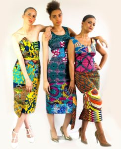 Sosome offers limited edition dresses designed with stunning African fabrics
