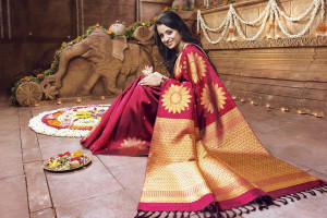 Kanchivaram saree in usa