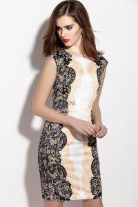 dark triad shop-floral print dress