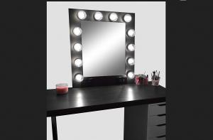 hollywood vanity mirror black