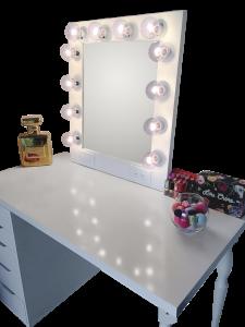 hollywood vanity mirror silver