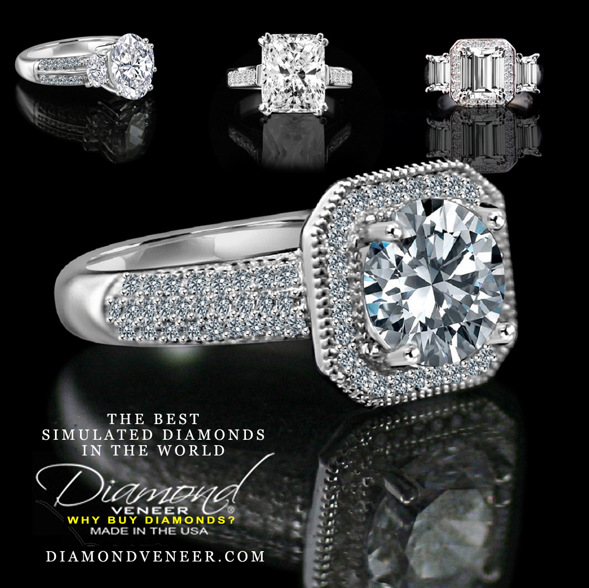 The Best Simulated Diamond Jewelry by Diamond Veneer