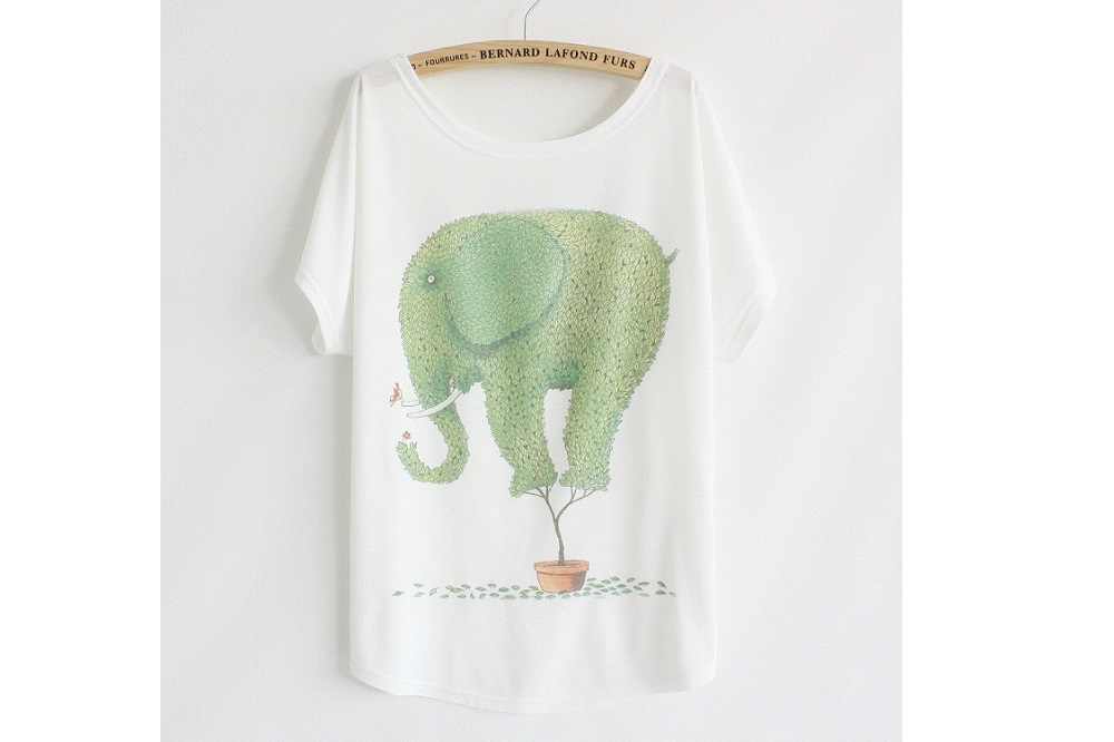 Stunning Vintage Elephant T-Shirt by Christy Jayne