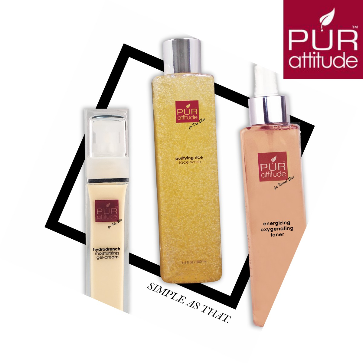 Get young, glowing and smooth skin with PUR attitude skin care products