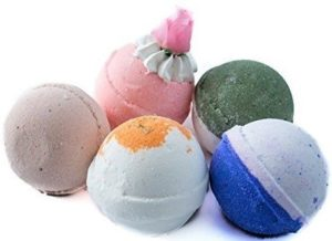 All natural multi color handmade bath bombs by BOMB VOYAGE