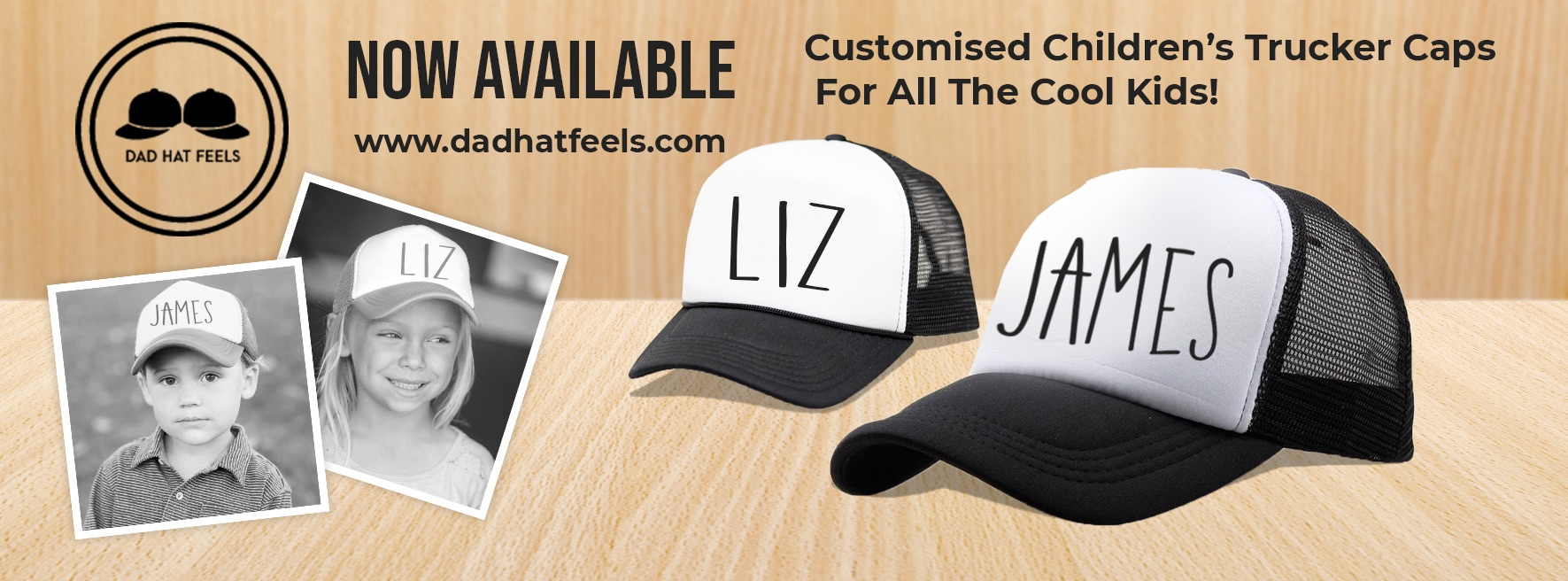 What about having your kids name on their hats?