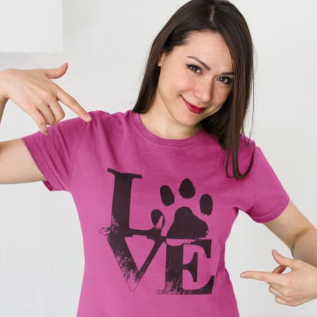 Now you can show your love for dogs with a T-Shirt