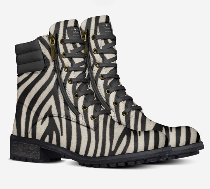 Unique and Sophisticated Zebraic boots