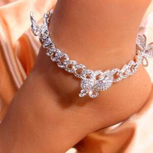 Put grace to your feet with diamond anklet
